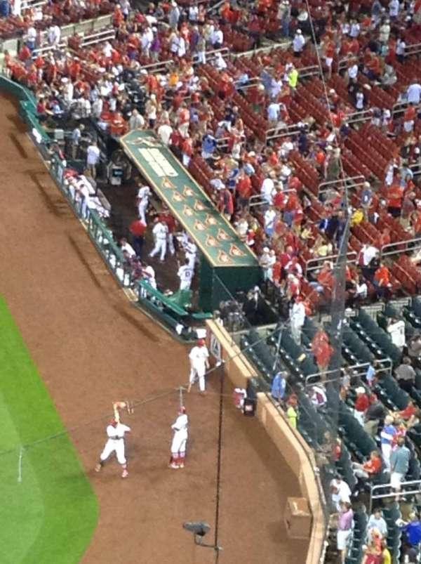 Busch Stadium, secção: 354, fila: 3, lugar: 6