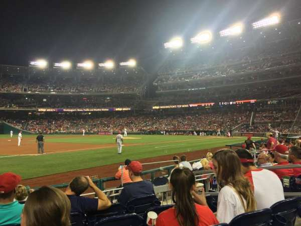 Nationals Park, secção: 113, fila: H, lugar: 5