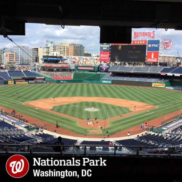 Nationals Park, secção: Lincoln Suite 20, fila: STAND, lugar: PASS
