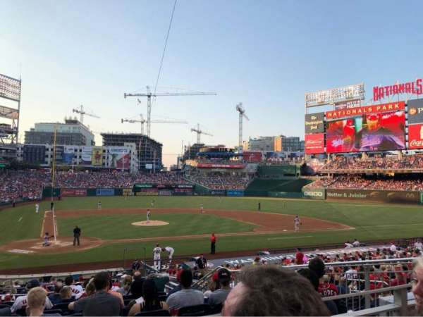 Nationals Park, secção: 126, fila: L, lugar: 8