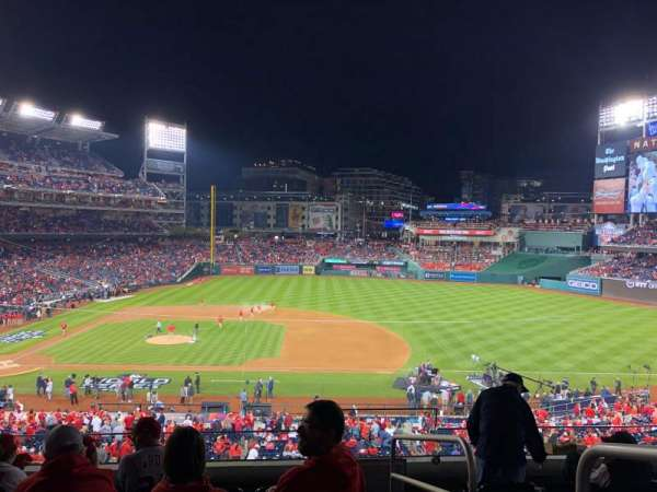 Nationals Park, secção: 219, fila: F, lugar: 1