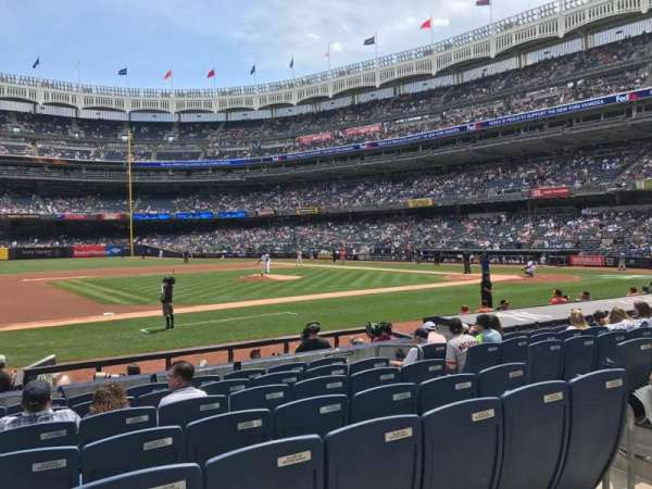 Yankee Stadium, secção: 125, fila: 1, lugar: 9