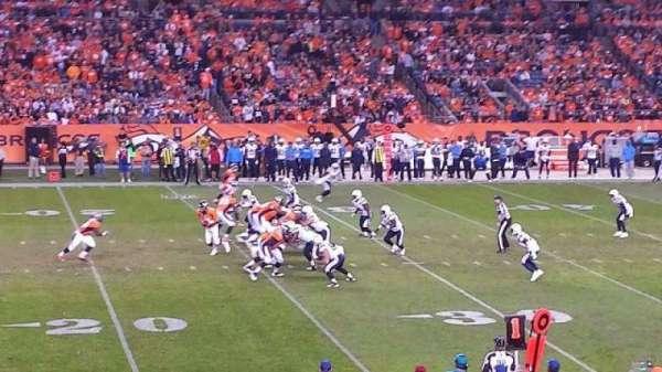 Broncos Stadium at Mile High, secção: 107, fila: 20, lugar: 22
