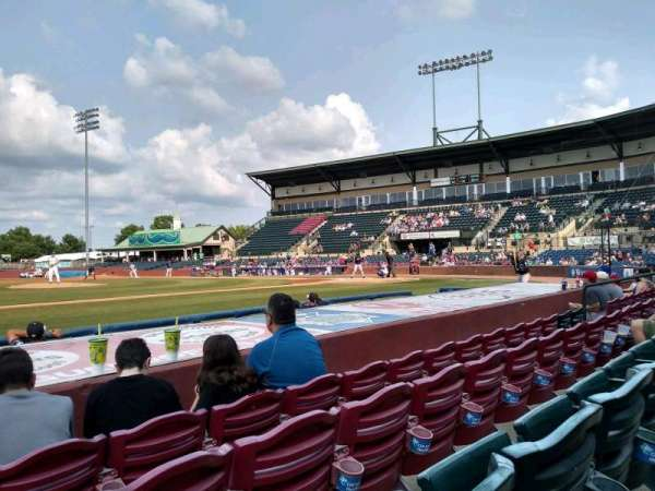 Whitaker Bank Ballpark, secção: 110, fila: 5, lugar: 15