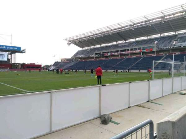 SeatGeek Stadium, secção: 120, fila: 1, lugar: 1