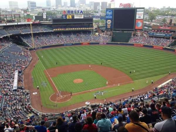 Turner Field, secção: 405, fila: 24, lugar: 3