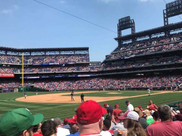 Citizens Bank Park, secção: 135, fila: 15, lugar: 13