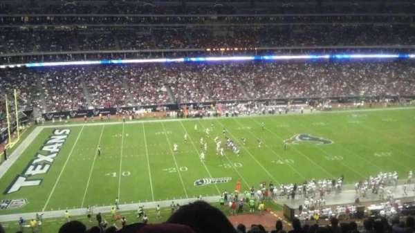 NRG Stadium, secção: 340, fila: U, lugar: 14