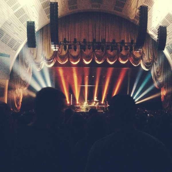 Radio City Music Hall, secção: Orchestra 5, fila: M, lugar: 501