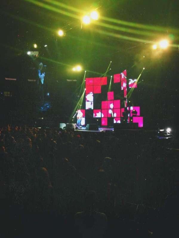Madison Square Garden, secção: 108, fila: 1, lugar: 13