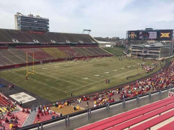 Jack Trice Stadium, secção: R, fila: 8, lugar: 1