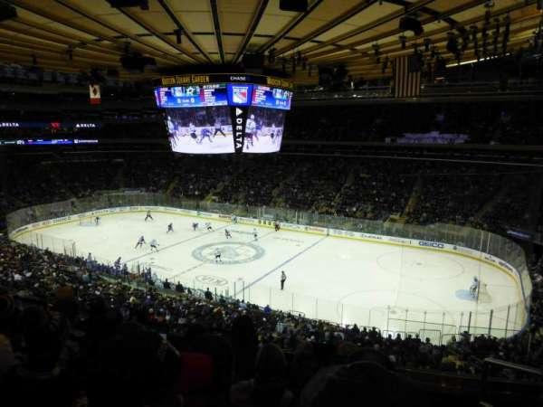 Madison Square Garden, secção: 213, fila: 5, lugar: 18