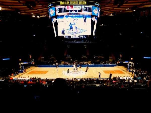 Madison Square Garden, secção: 107, fila: 20, lugar: 9