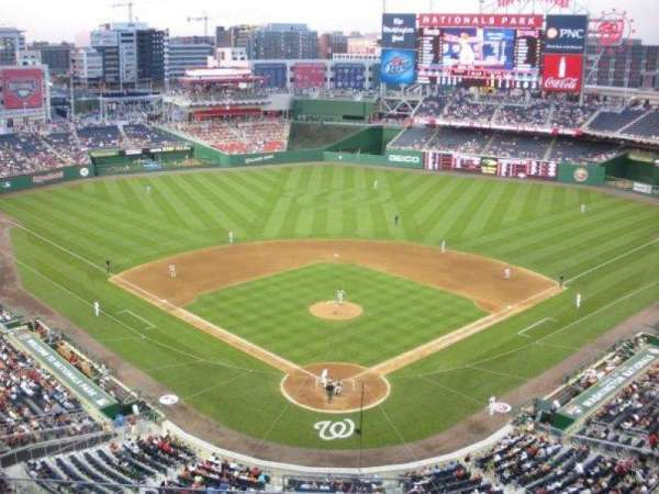 Nationals Park, secção: 314, fila: A, lugar: 10