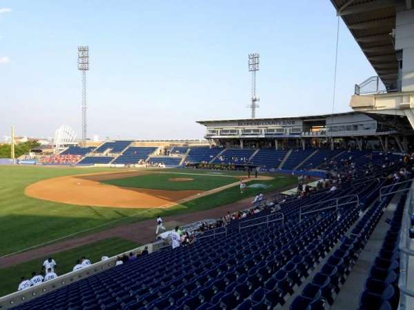 Richmond County Bank Ballpark, secção: 3, fila: 1C, lugar: 6