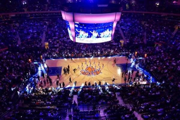 Madison Square Garden, secção: 313, fila: 1, lugar: 4