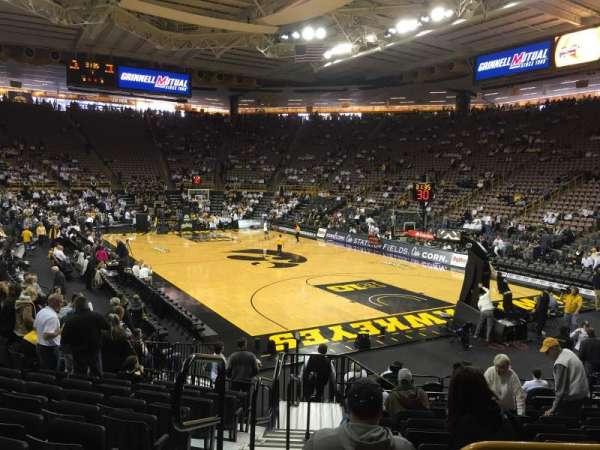 Carver-Hawkeye Arena, secção: II, fila: 14, lugar: 11