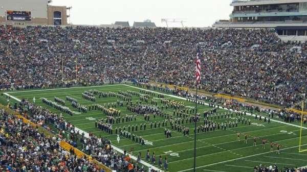 Notre Dame Stadium, secção: 104, fila: 24, lugar: 19