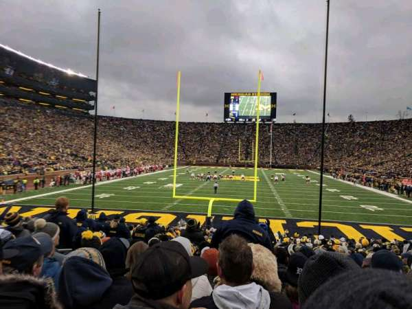 Michigan Stadium, secção: 34, fila: 23, lugar: 18