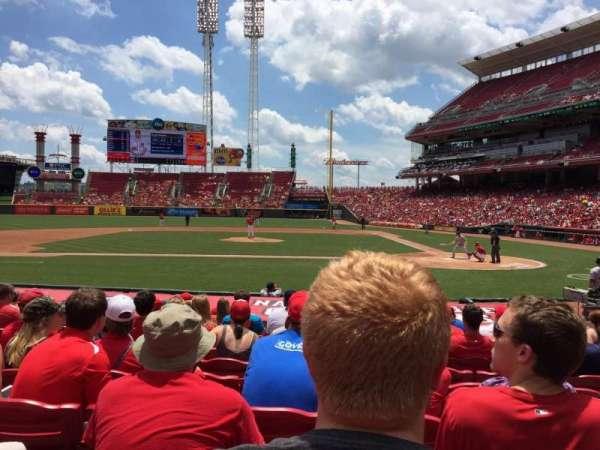 Great American Ball Park, secção: 118, fila: O, lugar: 6