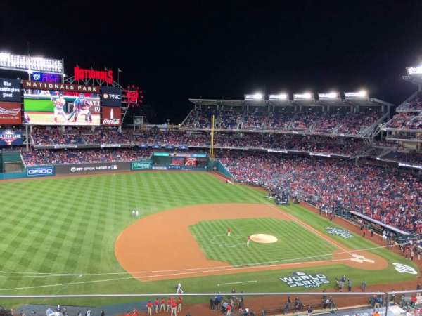 Nationals Park, secção: 307, fila: C, lugar: 17