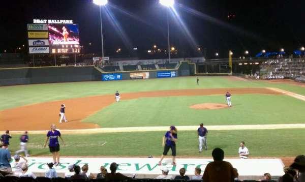 BB&T Ballpark, secção: 114, fila: 17, lugar: 7