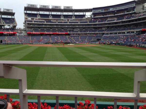 Nationals Park, secção: 103, fila: A, lugar: 5