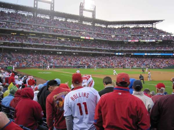 Citizens Bank Park, secção: 112, fila: 12, lugar: 8