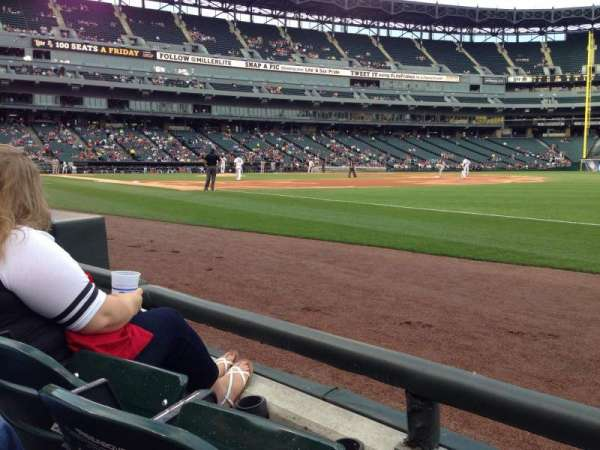 Guaranteed Rate Field, secção: 117, fila: 1, lugar: 5