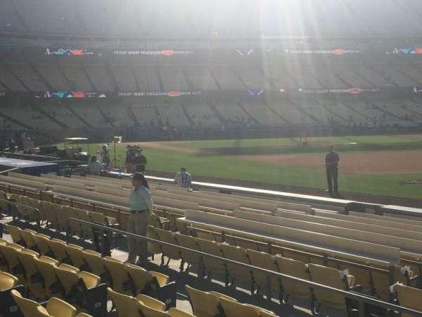 Dodger Stadium, secção: 36FD, fila: F, lugar: 1