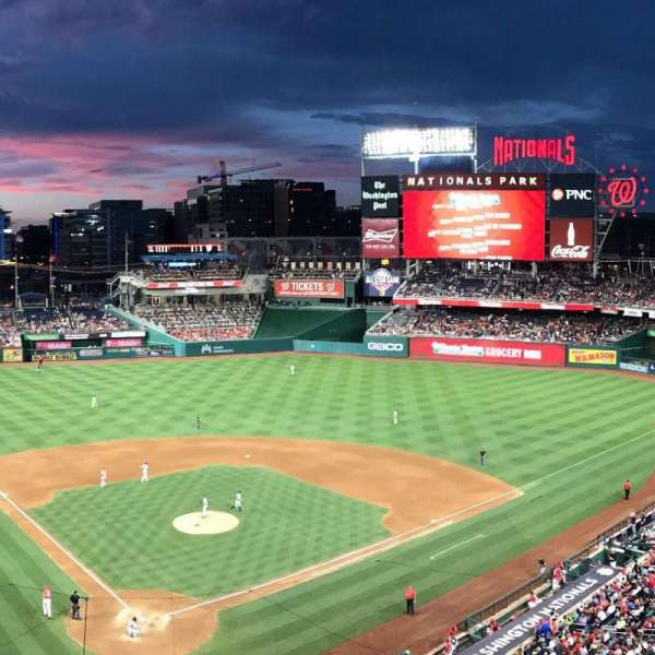 Nationals Park, secção: 315, fila: A, lugar: 10