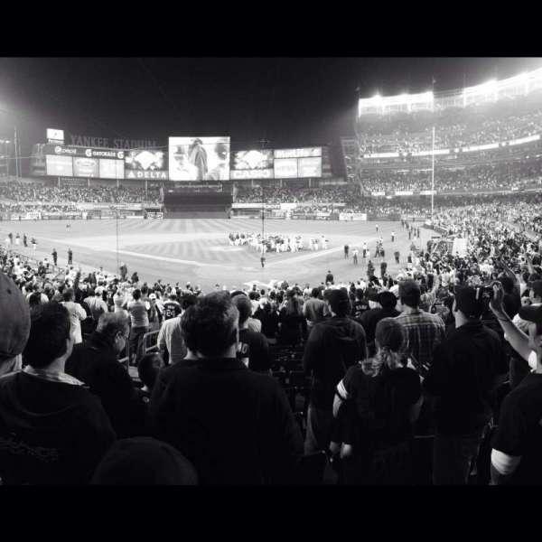 Yankee Stadium, secção: 120b, fila: 28, lugar: 1