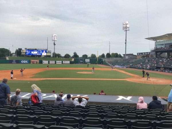Arvest Ballpark, secção: 115, fila: N, lugar: 6