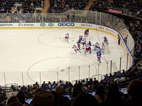 Madison Square Garden, secção: 213, fila: 9, lugar: 6