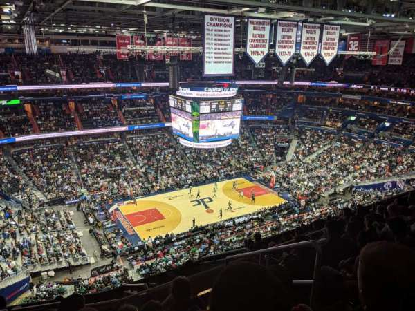 Capital One Arena, secção: 431, fila: M, lugar: 21