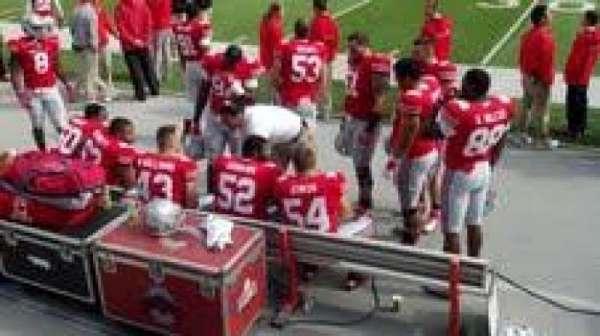 Ohio Stadium, secção: 23AA, fila: 1, lugar: 7