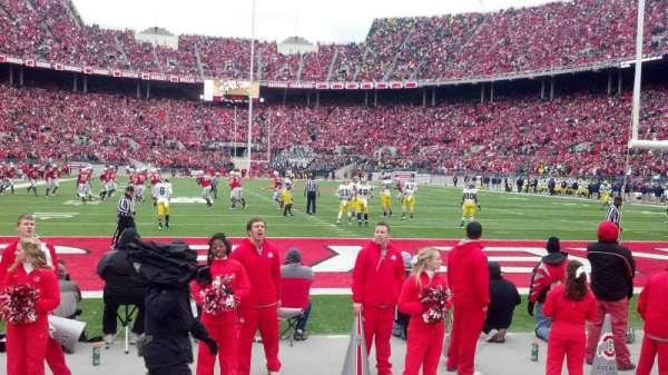 Ohio Stadium, secção: 37aa, fila: 1, lugar: 8