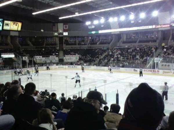 Scheels Arena, secção: 101, fila: k, lugar: 5
