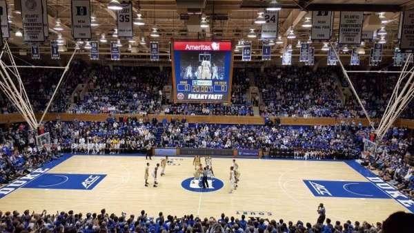 Cameron Indoor Stadium, secção: 15, fila: M, lugar: 18