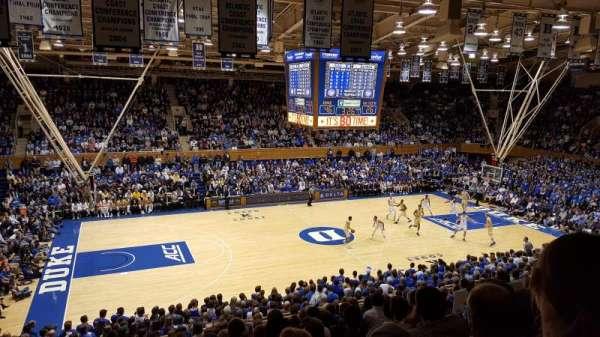 Cameron Indoor Stadium, secção: 14, fila: M, lugar: 18
