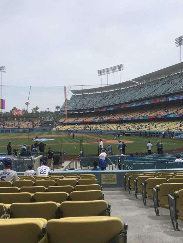 Dodger Stadium, secção: 15FD, fila: K, lugar: 1