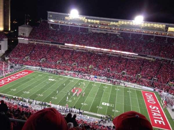 Ohio Stadium, secção: 18c, fila: 39, lugar: 6