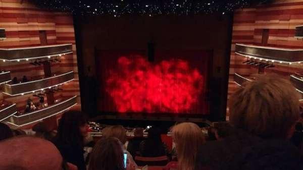 Eccles Theater, secção: 2TC, fila: F, lugar: 1