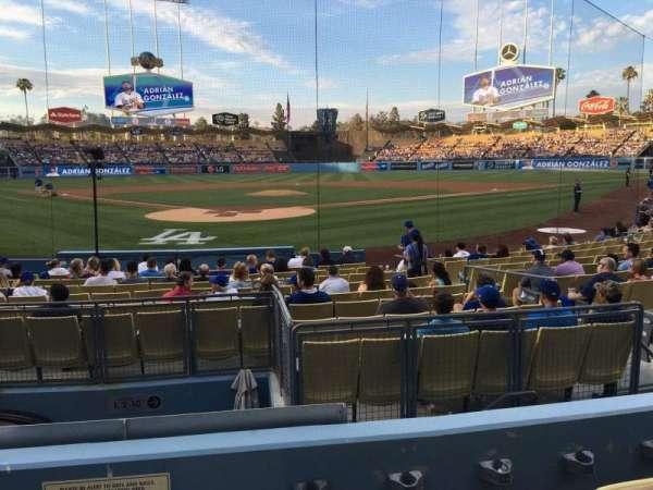 Dodger Stadium, secção: 4FD, fila: D, lugar: 1