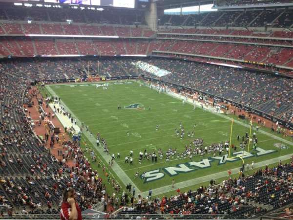 NRG Stadium, secção: 551, fila: J, lugar: 8