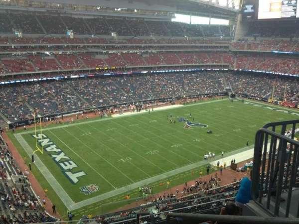 NRG Stadium, secção: 540, fila: M, lugar: 1