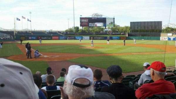 Louisville Slugger Field, secção: 113, fila: K, lugar: 3