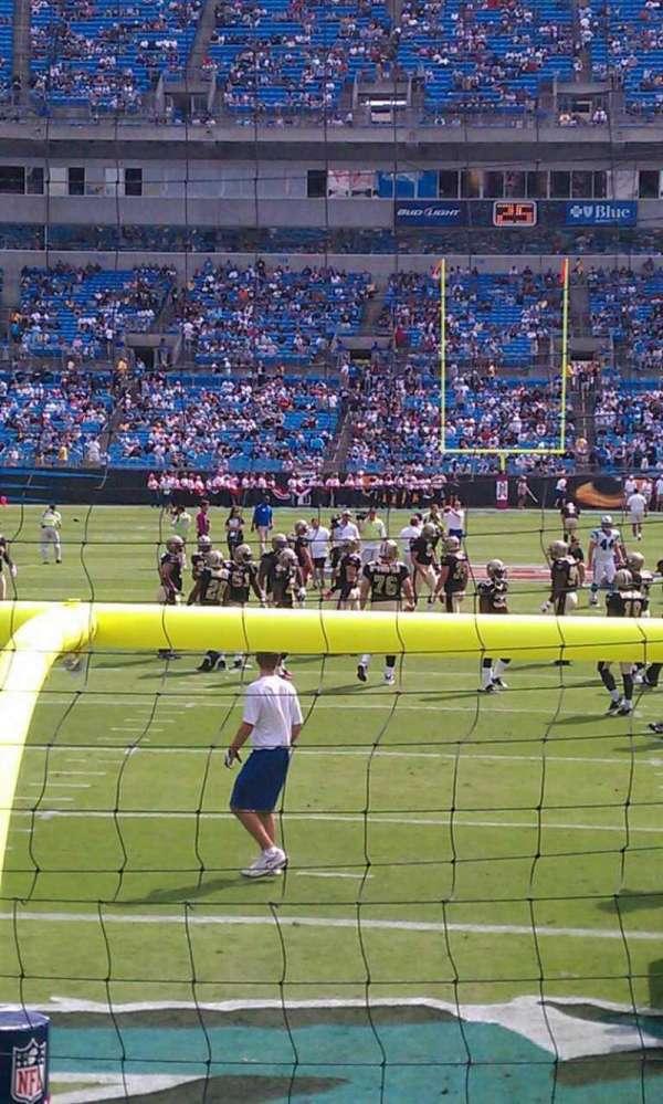 Bank of America Stadium, secção: 101, fila: 3, lugar: 15