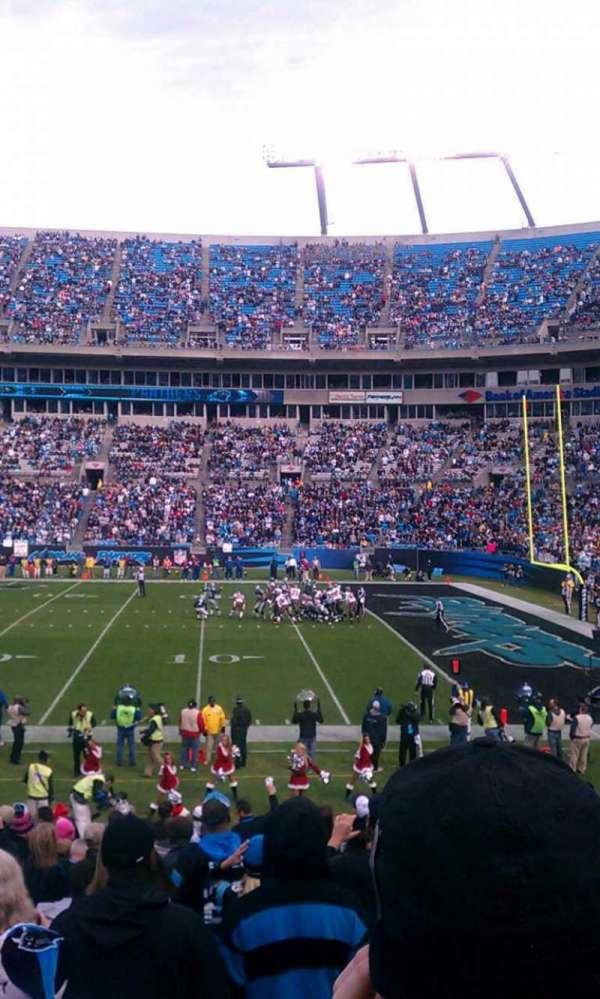 Bank of America Stadium, secção: 128, fila: 17, lugar: 2