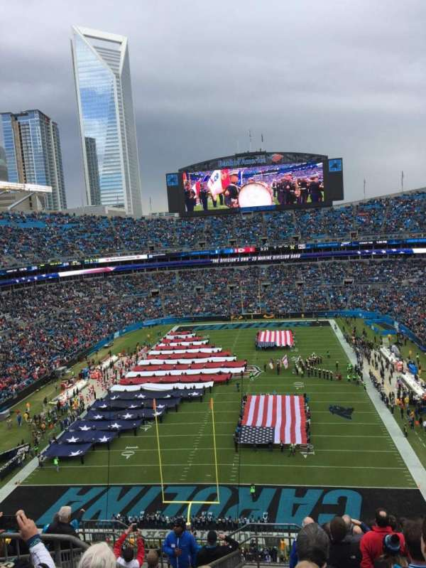 Bank of America Stadium, secção: 554, fila: 8, lugar: 21
